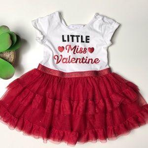 Girls Dress Valentines Day Red Ruffle 18-24 months